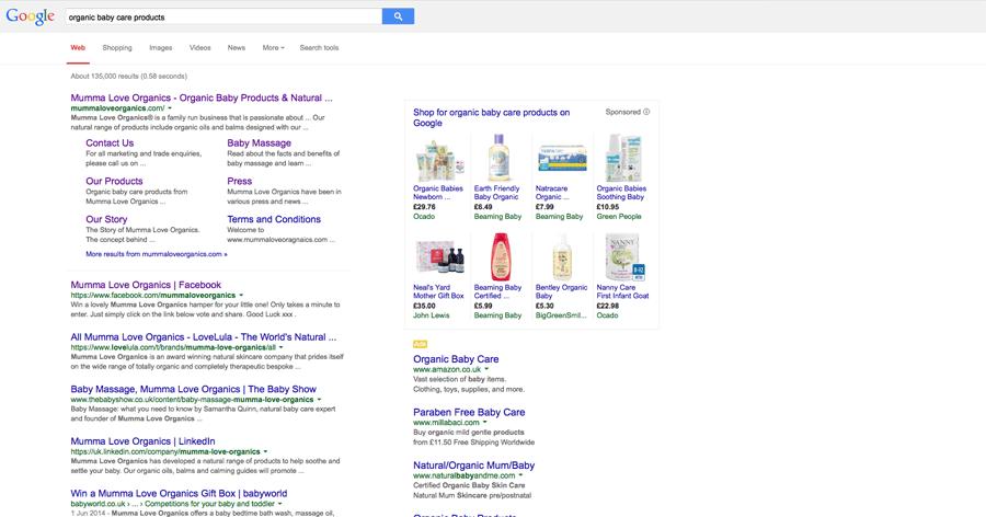 Mumma Love Organics Google