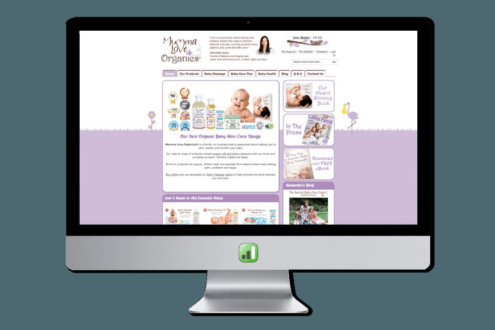 Mumma Love Organics Website
