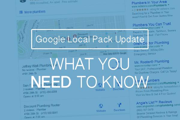 Google Local Pack Update
