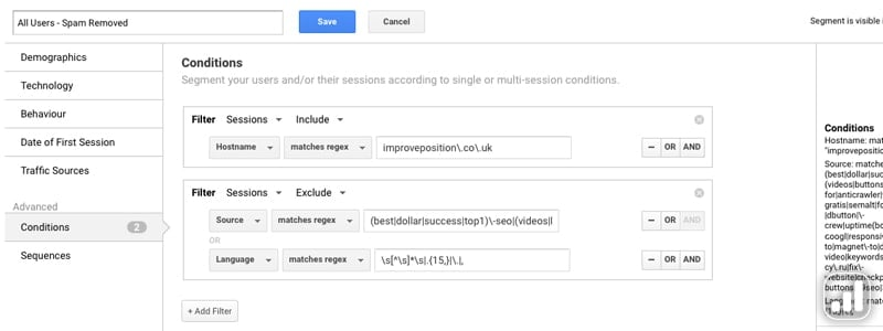Adding Segments In Google Analytics