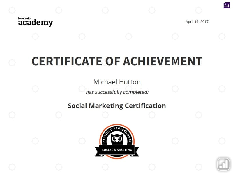 Social Media Marketing Certificate