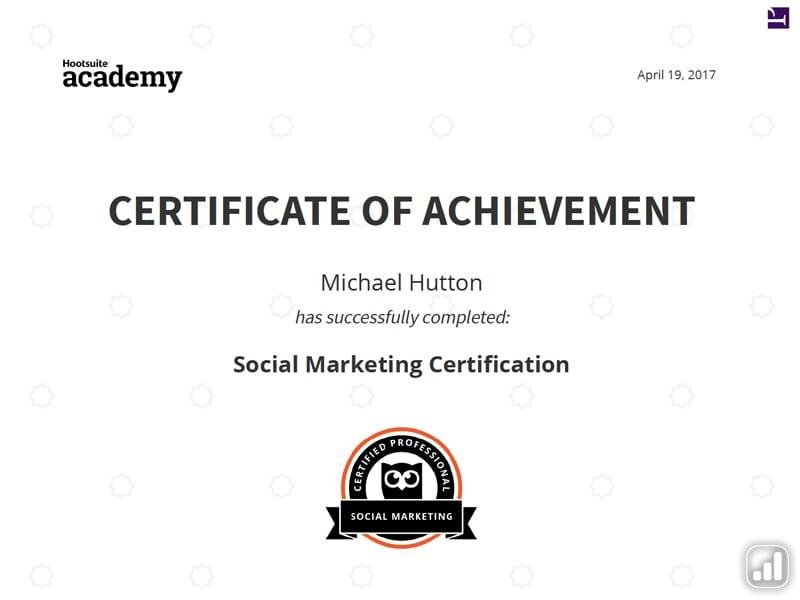 Social Media Marketing Certificate